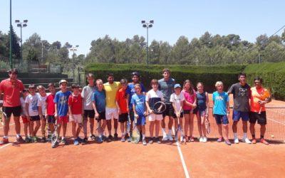 Visita del tenista Pablo Carreño a l'Intensiu de Tenis!
