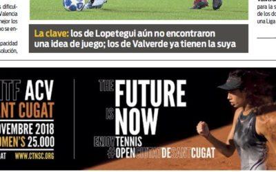 L'ITF, a la contraportada del diari SPORT